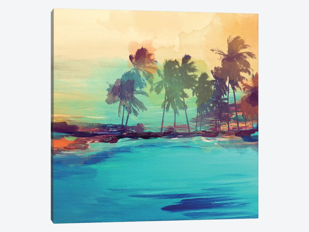 Palm Island I by Irena Orlov 1-piece Canvas Wall Art