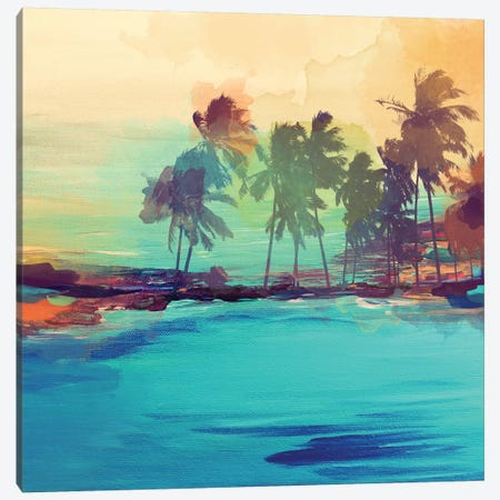 Palm Island I 3-Piece Canvas #ORL42} by Irena Orlov Canvas Artwork
