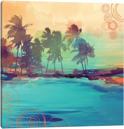 Palm Island IV Canvas Art Print