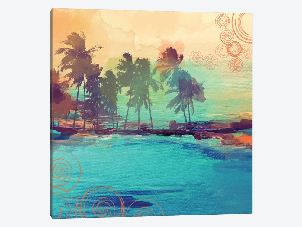 Palm Island IV by Irena Orlov 1-piece Canvas Print