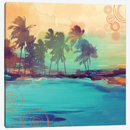 Palm Island IV 3-Piece Canvas #ORL43} by Irena Orlov Canvas Wall Art