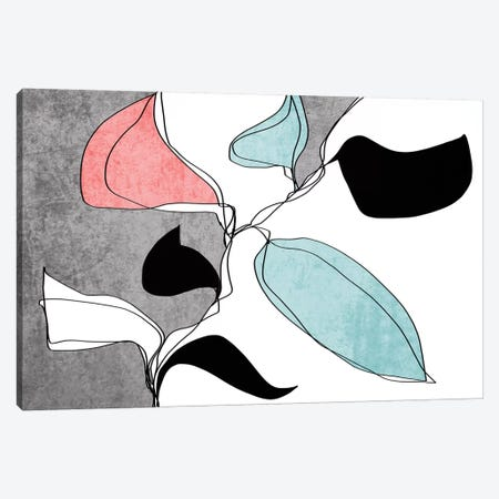 Abstract Bloom I-I 3-Piece Canvas #ORL461} by Irena Orlov Canvas Artwork