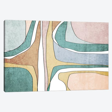 Abstract Lines II Canvas Print #ORL472} by Irena Orlov Canvas Art Print