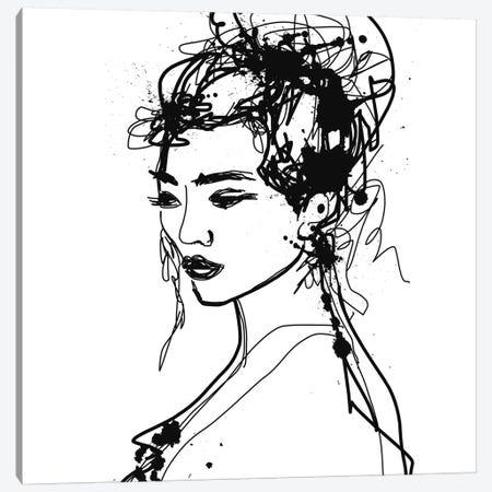 Female Portrait Canvas Print #ORL488} by Irena Orlov Canvas Artwork