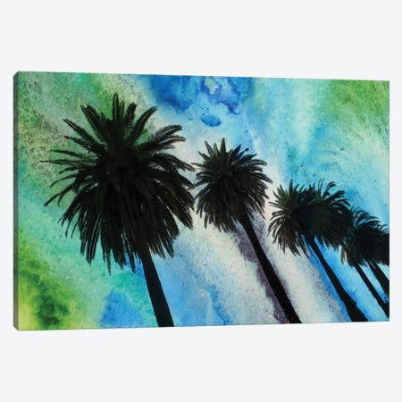 Santa Monica Palms Canvas Print #ORL49} by Irena Orlov Canvas Wall Art