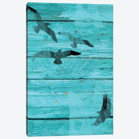Birds In Sky I Canvas Print #ORL4} by Irena Orlov Canvas Artwork