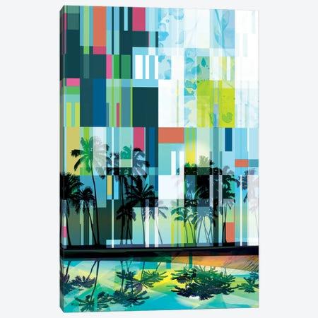 Mid Century Modern Palms II Canvas Print #ORL516} by Irena Orlov Canvas Art Print