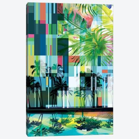 Mid Century Modern Palms IV Canvas Print #ORL519} by Irena Orlov Canvas Art
