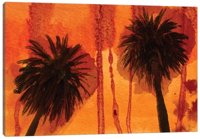 Sunset Palms Canvas Art Print