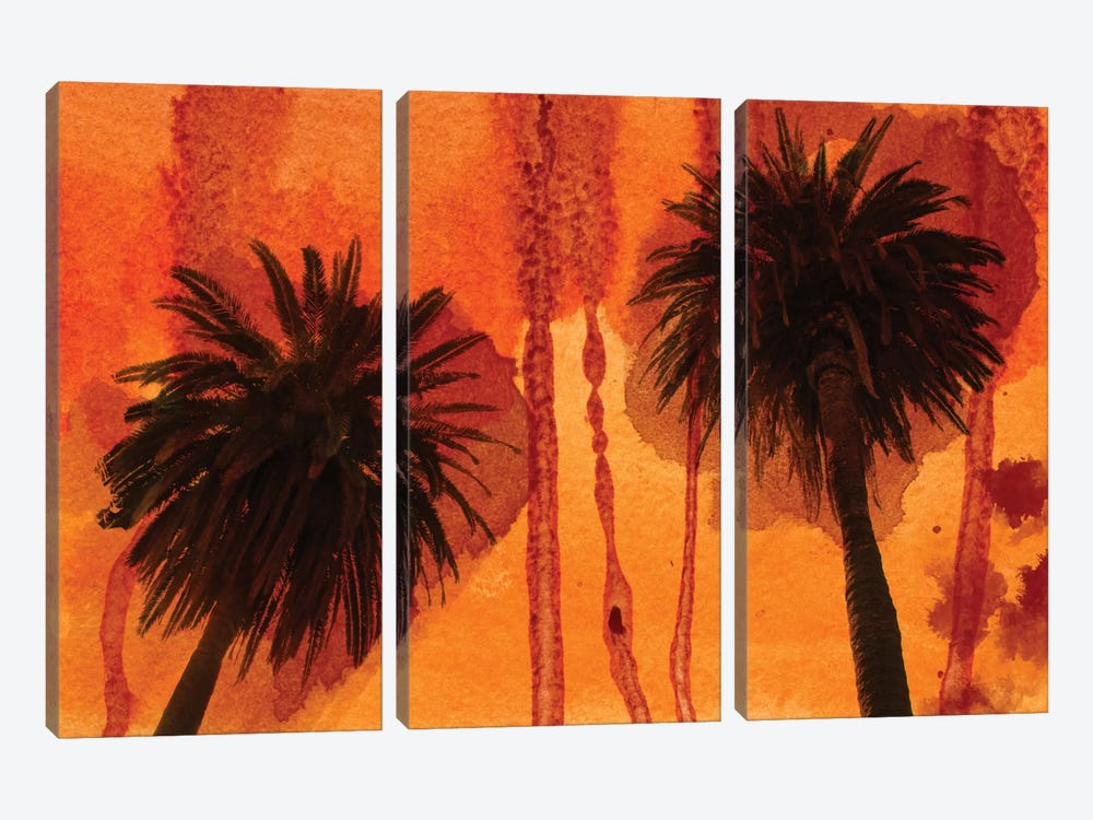 Sunset Palms by Irena Orlov 3-piece Canvas Wall Art