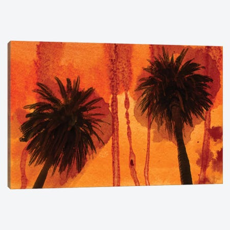 Sunset Palms Canvas Print #ORL51} by Irena Orlov Canvas Art Print
