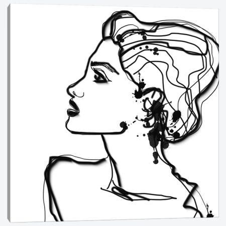 Parsley Hair.2 Canvas Print #ORL524} by Irena Orlov Canvas Wall Art