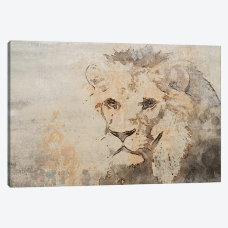 Rustic Lion Canvas Print #ORL528} by Irena Orlov Art Print