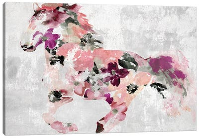 Colorful Abstract Horse I-II Canvas Art Print