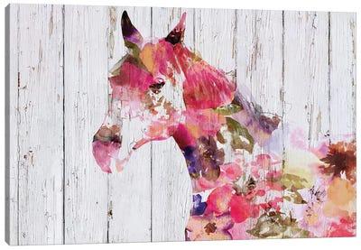 Fabulous Floral Horse Canvas Art Print