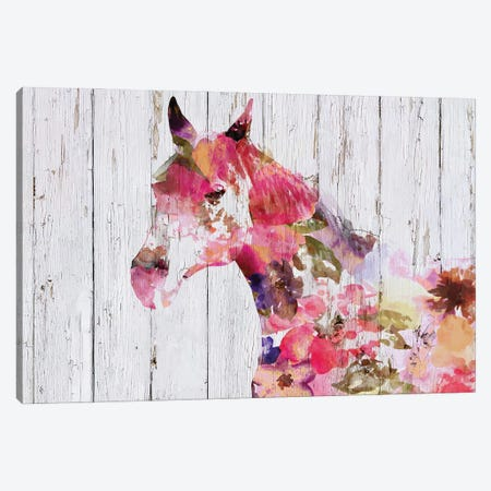 Fabulous Floral Horse Canvas Print #ORL549} by Irena Orlov Art Print