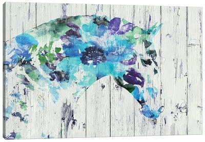 Floral Boho Horse II-IV Canvas Art Print