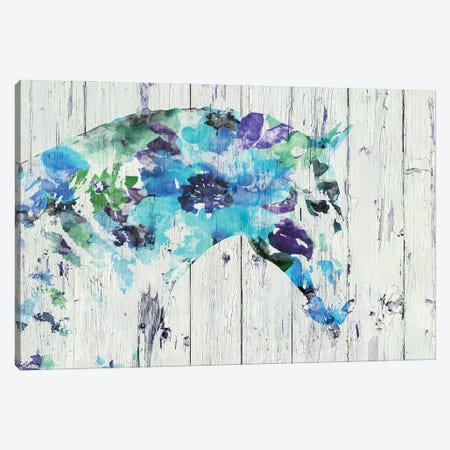 Floral Boho Horse II-IV Canvas Print #ORL550} by Irena Orlov Canvas Art