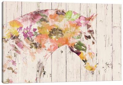 Floral Boho Horse II-V Canvas Art Print