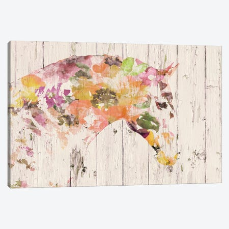 Floral Boho Horse II-V Canvas Print #ORL551} by Irena Orlov Canvas Wall Art
