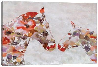 Love Between Horse Couple 5 Canvas Art Print