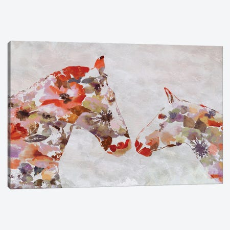 Love Between Horse Couple 5 Canvas Print #ORL552} by Irena Orlov Canvas Art