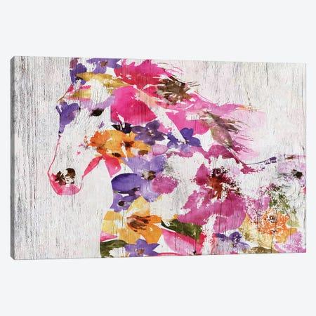 Floral Farm Horse Canvas Print #ORL553} by Irena Orlov Canvas Wall Art
