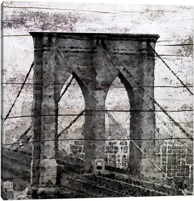 The Brooklyn Bridge As Seen From Manhattan Canvas Art Print