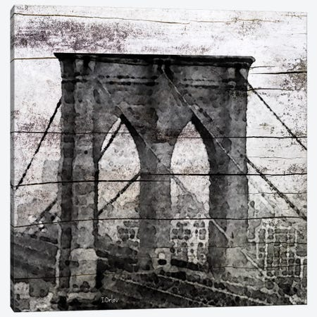 The Brooklyn Bridge As Seen From Manhattan 3-Piece Canvas #ORL55} by Irena Orlov Canvas Artwork