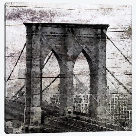 The Brooklyn Bridge As Seen From Manhattan Canvas Print #ORL55} by Irena Orlov Canvas Artwork