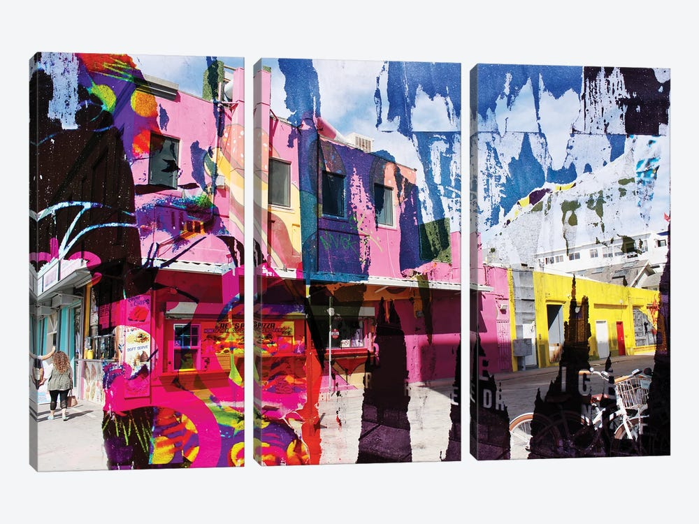 At Venice Beach IV by Irena Orlov 3-piece Canvas Art Print