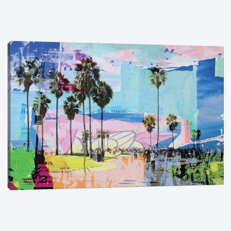One Summer Day At Venice Beach I Canvas Print #ORL569} by Irena Orlov Canvas Print