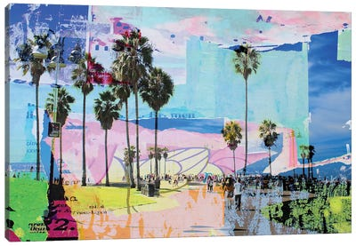 One Summer Day At Venice Beach I Canvas Art Print