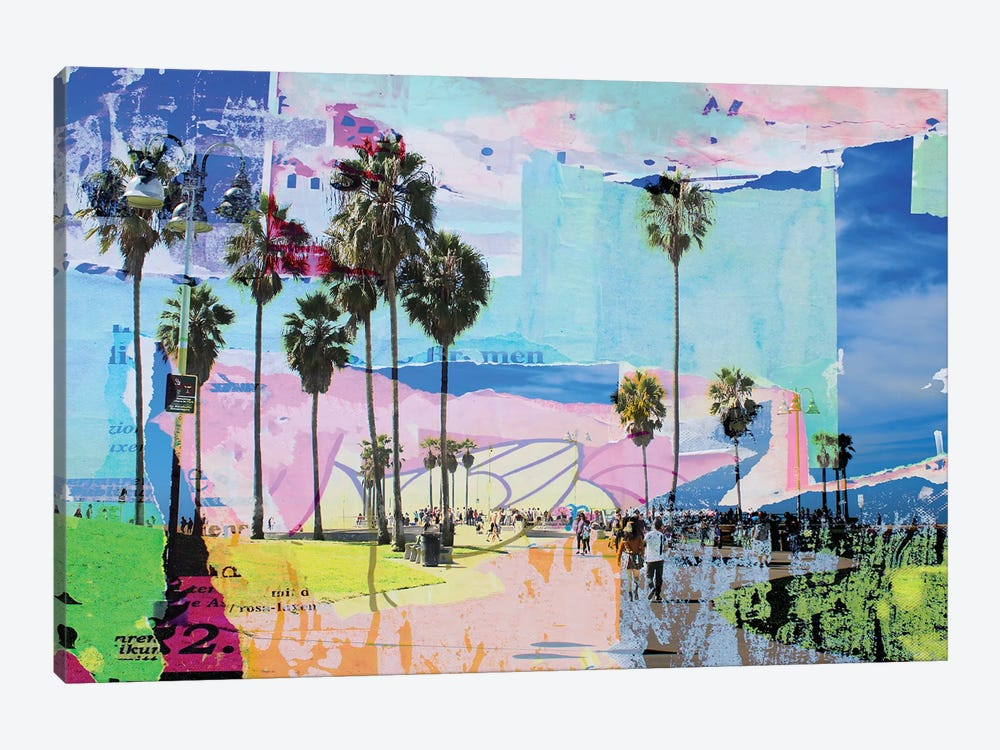 One Summer Day At Venice Beach I by Irena Orlov 1-piece Canvas Wall Art