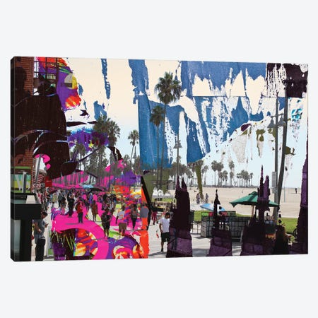 One Summer Day At Venice Beach III Canvas Print #ORL570} by Irena Orlov Canvas Wall Art