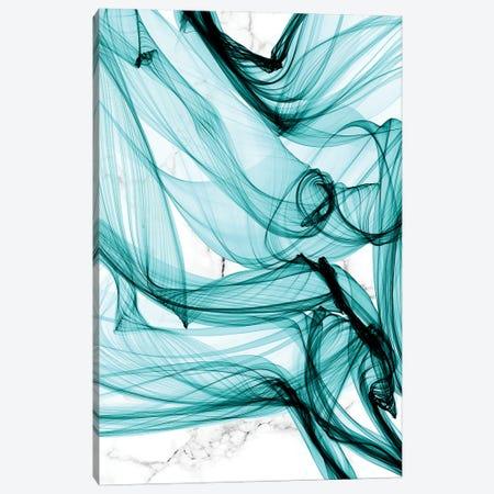 Teal Ribbons V Canvas Print #ORL590} by Irena Orlov Canvas Artwork