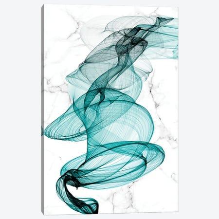 Teal Ribbons VI Canvas Print #ORL591} by Irena Orlov Canvas Artwork