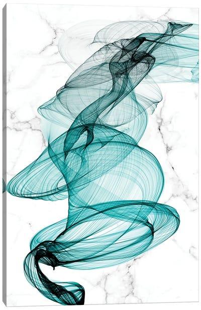Teal Ribbons VI Canvas Art Print