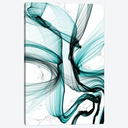 Teal Ribbons VII Canvas Print #ORL592} by Irena Orlov Canvas Wall Art