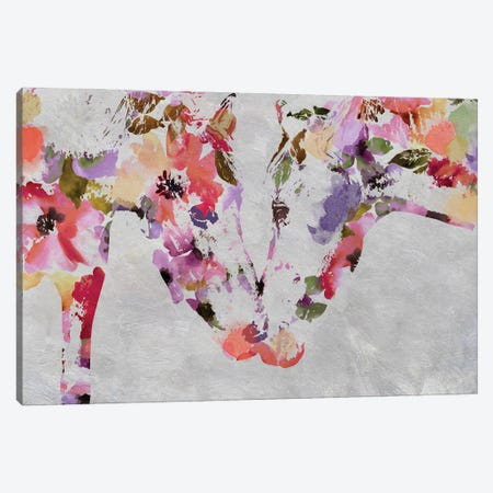 Loving Horses Canvas Print #ORL611} by Irena Orlov Canvas Art Print