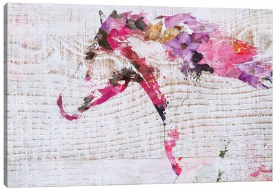 Running Boho Horse Canvas Art Print