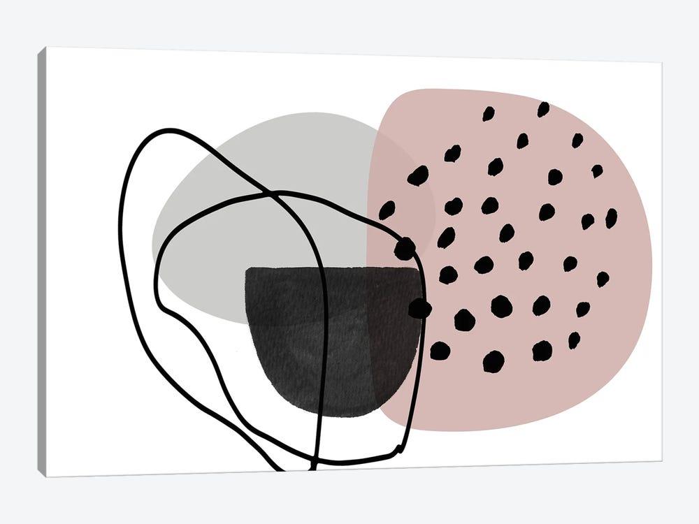 Pink Lines Minimalism by Irena Orlov 1-piece Canvas Art Print