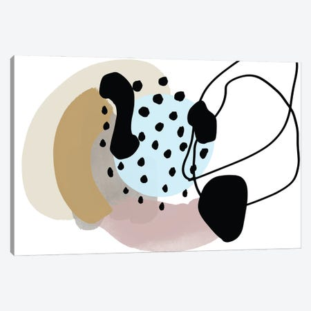 Pink Blue Lines Minimalism Canvas Print #ORL616} by Irena Orlov Canvas Artwork
