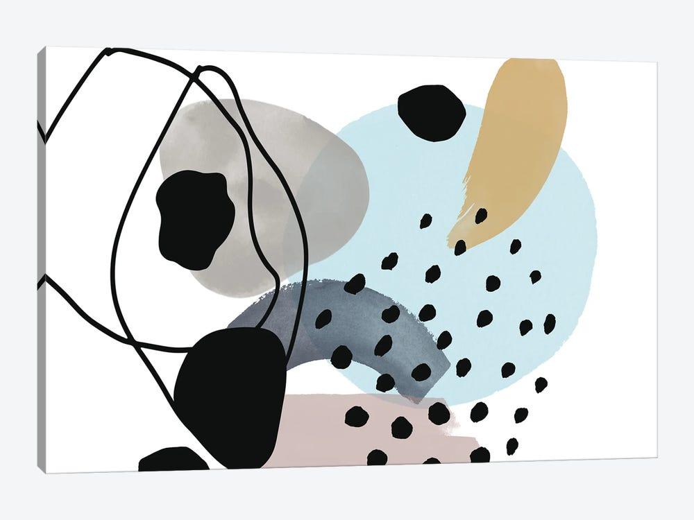 Pink Blue Yellow Lines Minimalism by Irena Orlov 1-piece Canvas Print