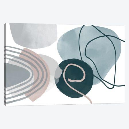 Blue Lines Minimalism I Canvas Print #ORL618} by Irena Orlov Art Print