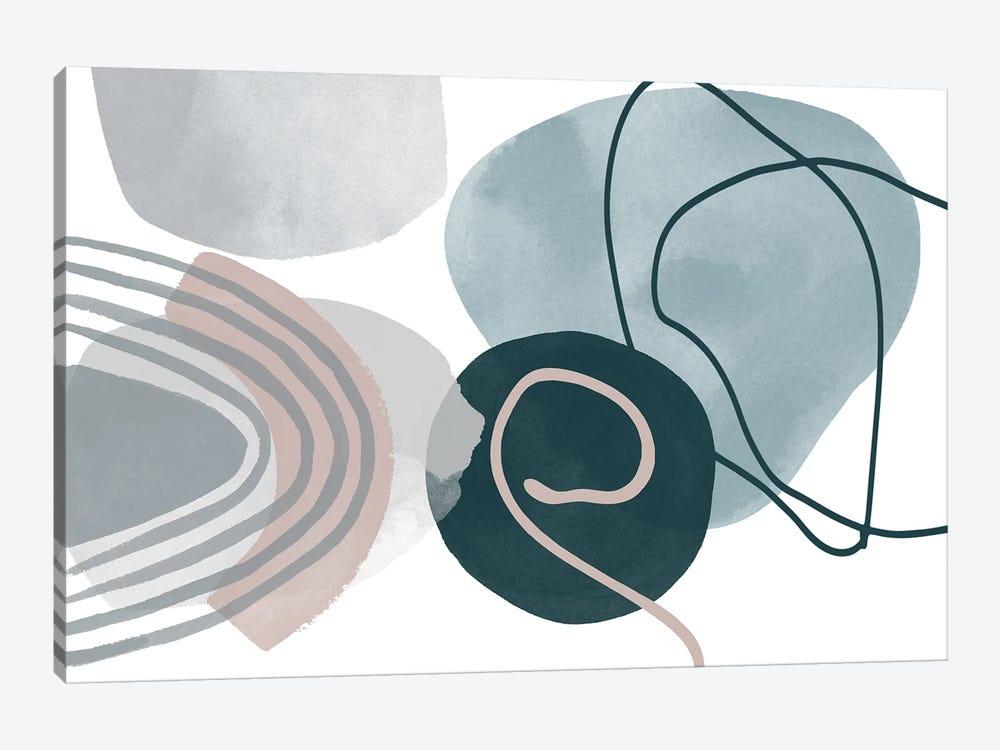 Blue Lines Minimalism I by Irena Orlov 1-piece Canvas Art