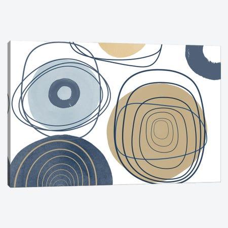 Blue Lines Minimalism II Canvas Print #ORL619} by Irena Orlov Canvas Art Print