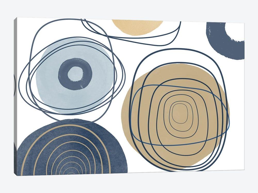 Blue Lines Minimalism II by Irena Orlov 1-piece Canvas Print