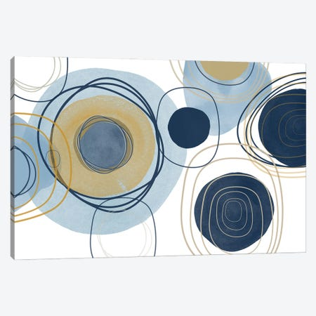 Blue Lines Minimalism III Canvas Print #ORL620} by Irena Orlov Canvas Art