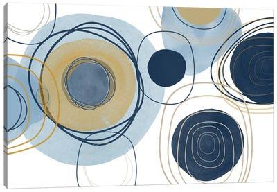 Blue Lines Minimalism III Canvas Art Print